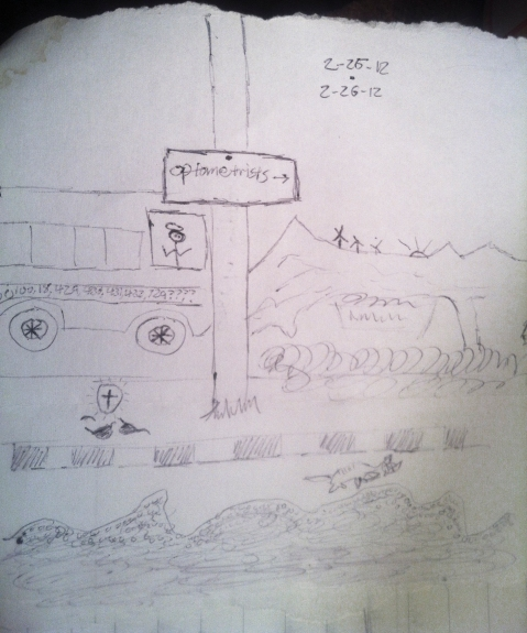 sketch on some of the day's events....2/26/12
